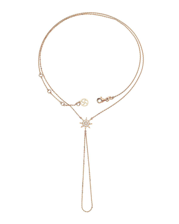 Venus Star 14k Diamond Wrapped Hand Bracelet