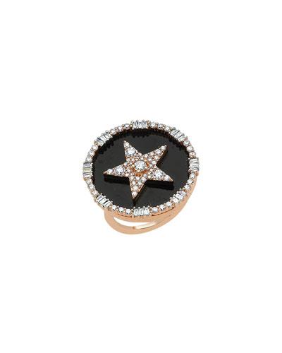 Sirius Stat 14k Diamond Pave Ring, Size 7