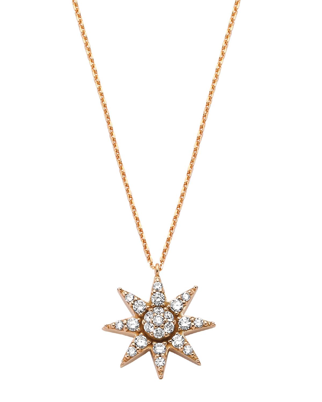 Venus Star 14k Diamond Pave Pendant Necklace