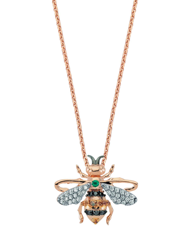 14k Honey Bee Pendant Necklace
