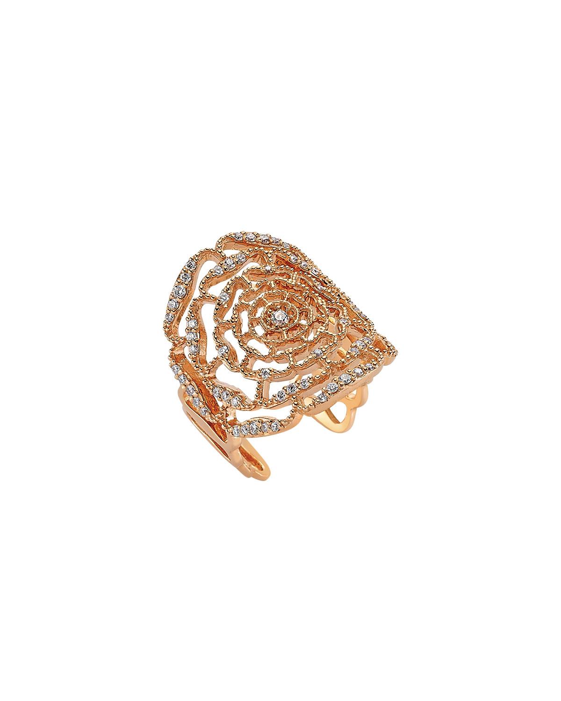 Rosa Mundi 14k Open Diamond Ring