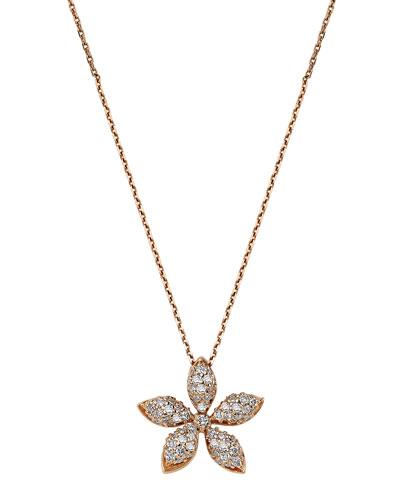 Apple Seed 14k Diamond Pendant Necklace