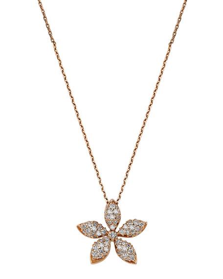 BeeGoddess Apple Seed 14k Diamond Pendant Necklace