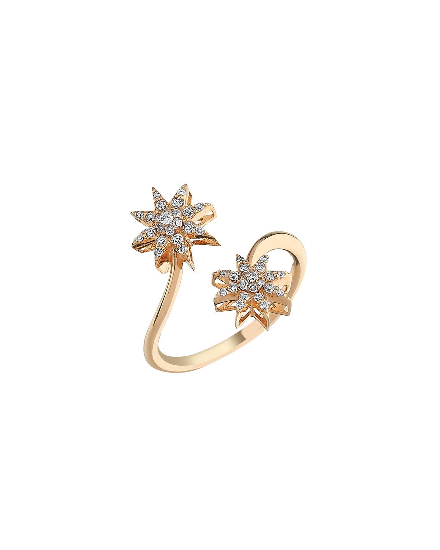 Venus Star 14k Diamond Bypass Ring