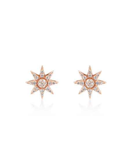 BeeGoddess Venus Star 14k Diamond Stud Earrings