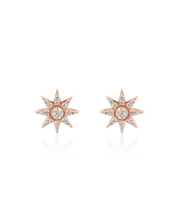 Venus Star 14k Diamond Stud Earrings
