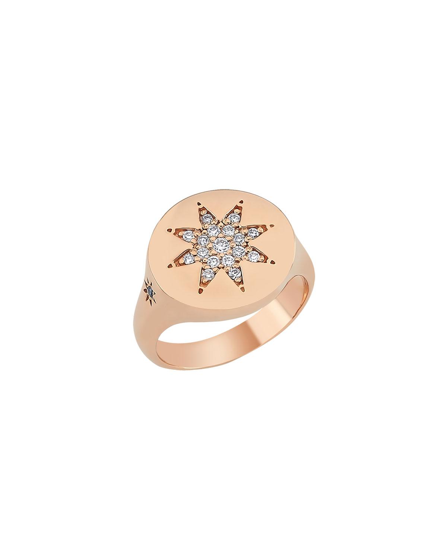 Venus Star 14k Diamond Pinky Ring