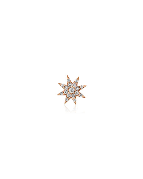 BeeGoddess Venus Star 14k Diamond Stud Earring, Single