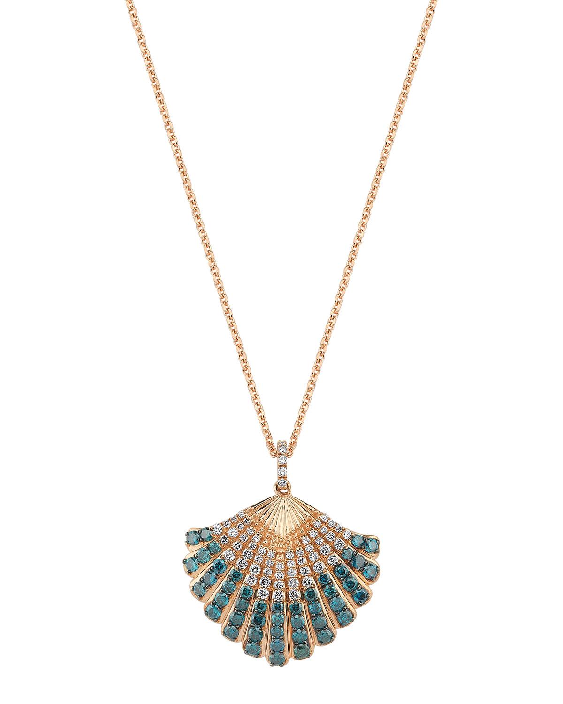 14k Multi-Diamond Oyster Necklace