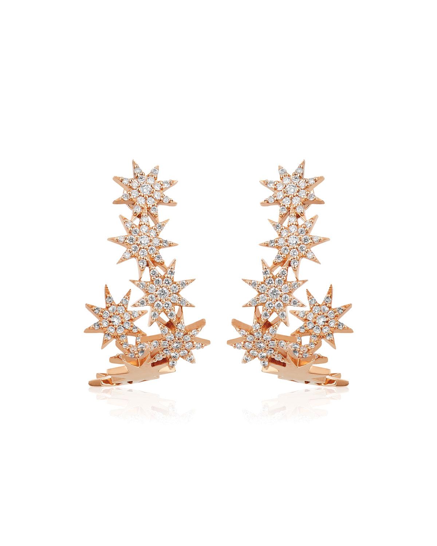Venus Star 14k Stacked Diamond Earrings