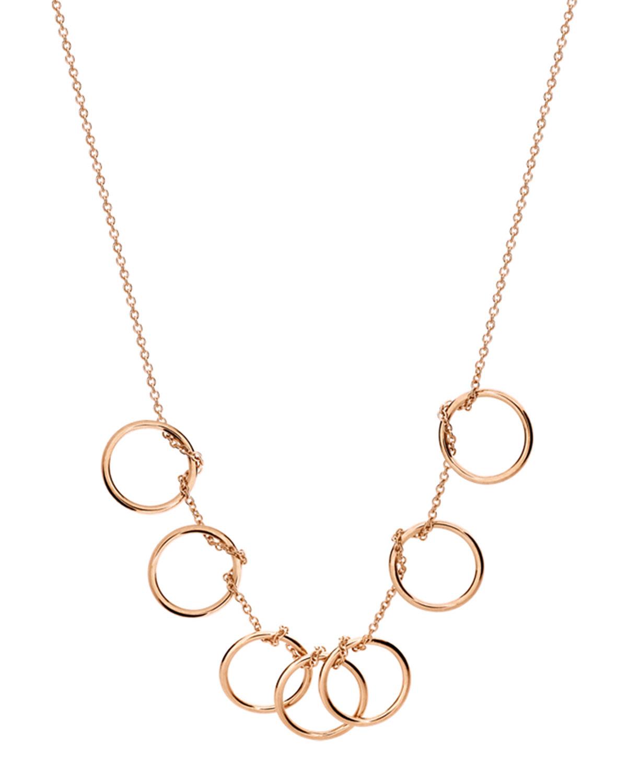 18k Rose Gold Tiny 7-Circle Necklace