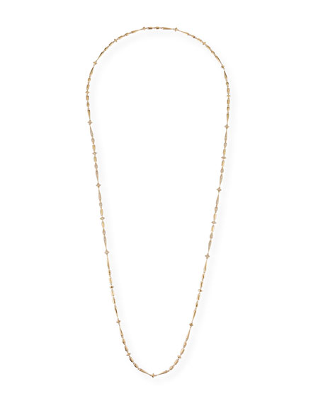 "Etho Maria 18k Brown Diamond Station Necklace, 36""L"