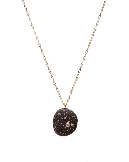 """CVC Stones 18k Gold Oval W/Dia Necklace - One of a Kind, 30"""""""