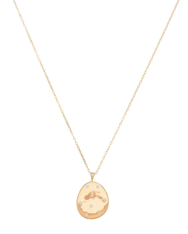 18k Gold Oval Z12 Necklace
