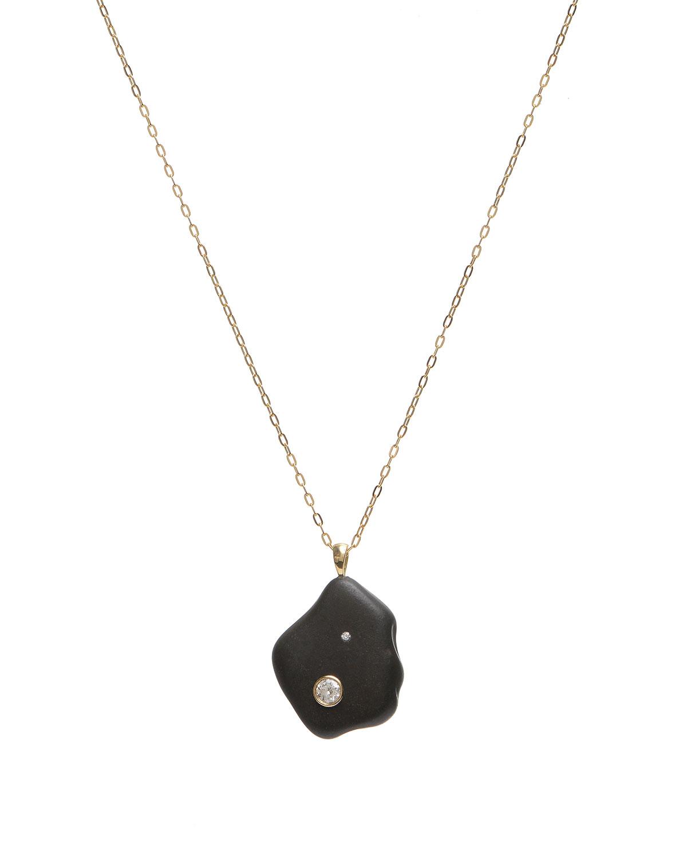 18k Gold Irregular Cafe Noir Necklace