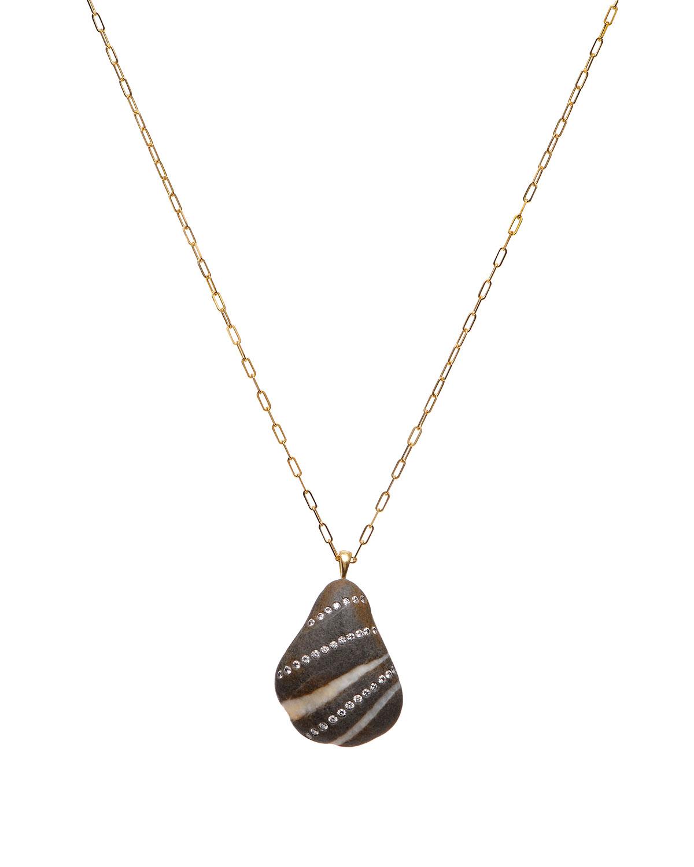 18k Gold Pear Fantastic Necklace