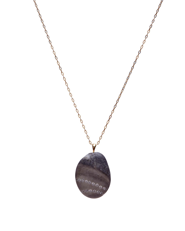 18k Gold Oval Stray Necklace