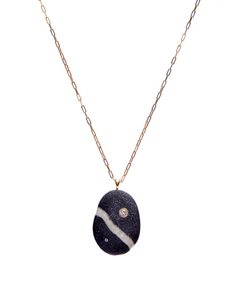 """CVC Stones 18k Gold Oval Empire Necklace - One of a Kind, 30"""""""
