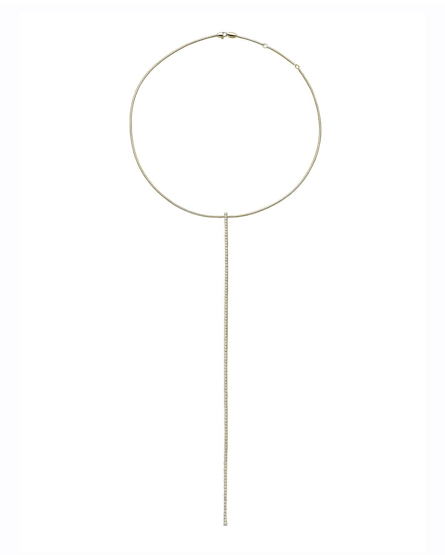 Rugiada 18k Gold Long Diamond Y-Necklace