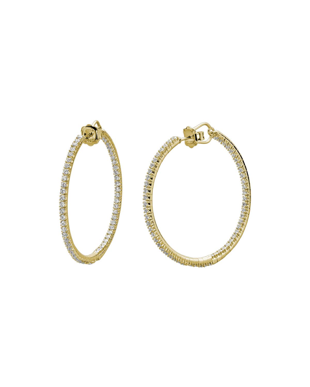 Rugiada 18K Diamond Hoop Earrings