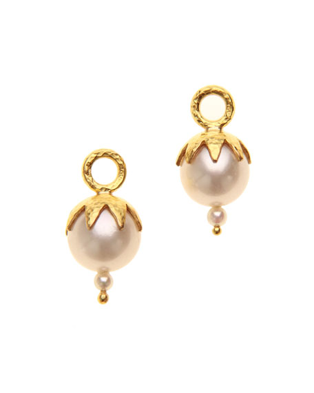 Elizabeth Locke 19k Freshwater Pearl Earring Pendants