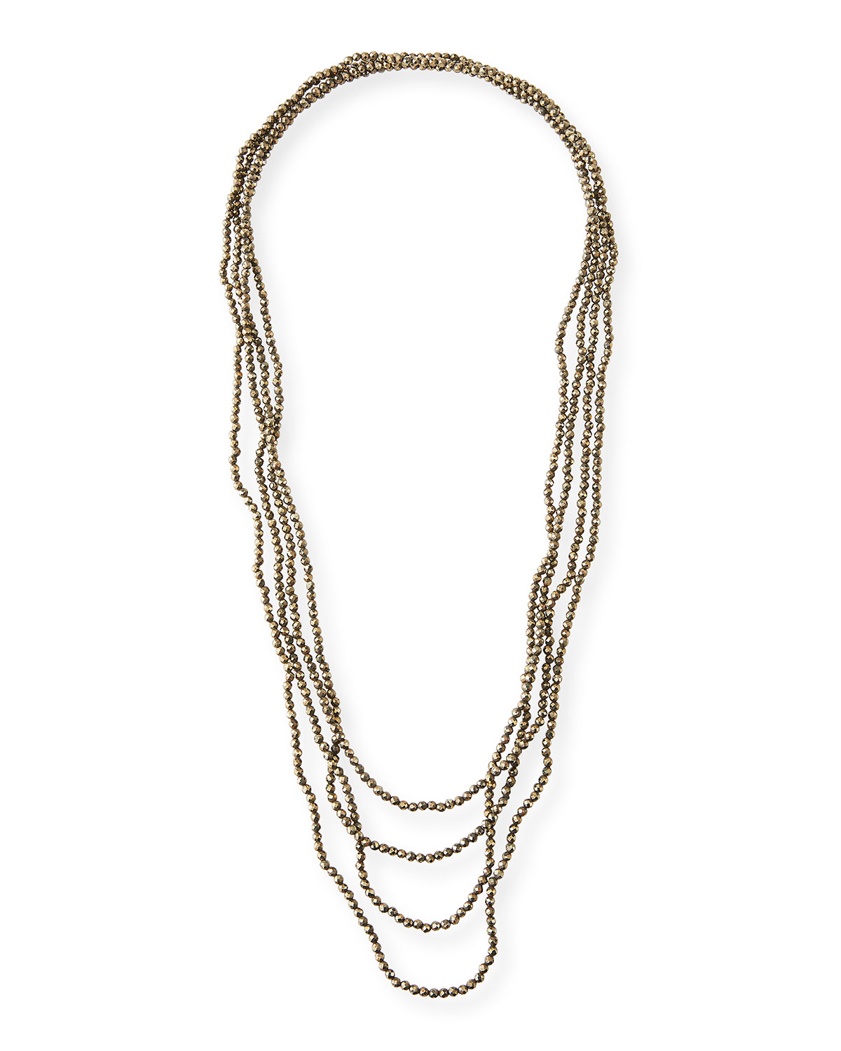 Infinity Pyrite Necklace