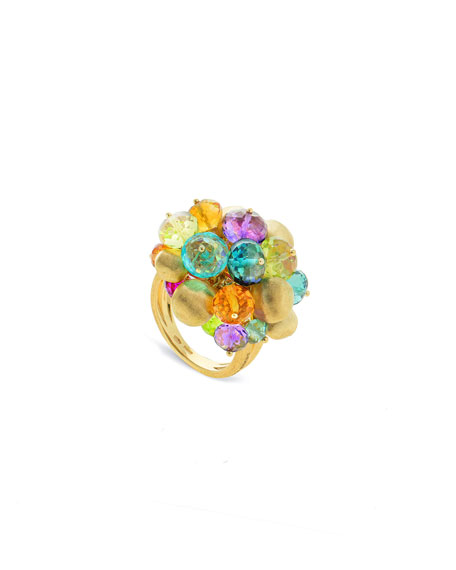 Marco Bicego Africa Mixed-Gem Large Cocktail Ring