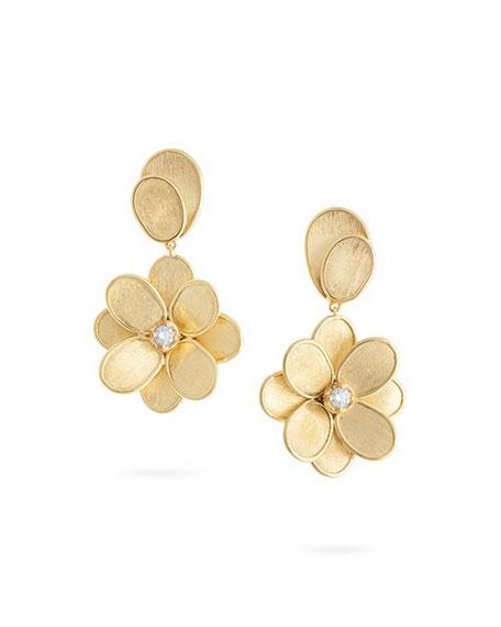 Marco Bicego Petali Single-Drop Earrings with Diamonds