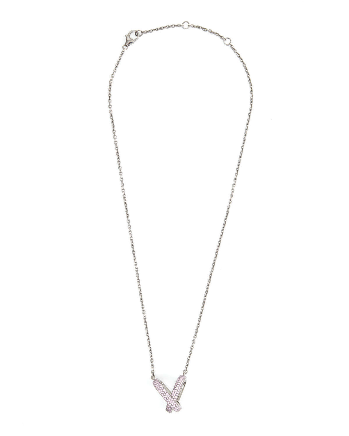 Double-Link Pink Sapphire Necklace
