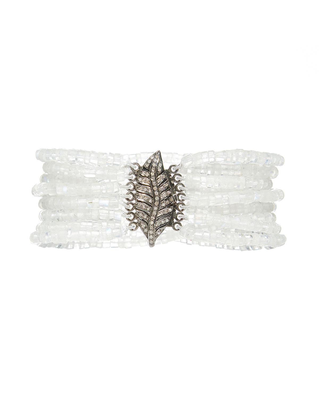 Plume Moonstone Bracelet