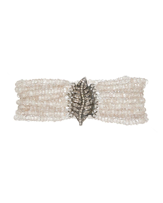 Plume Champagne Zirconia Bracelet