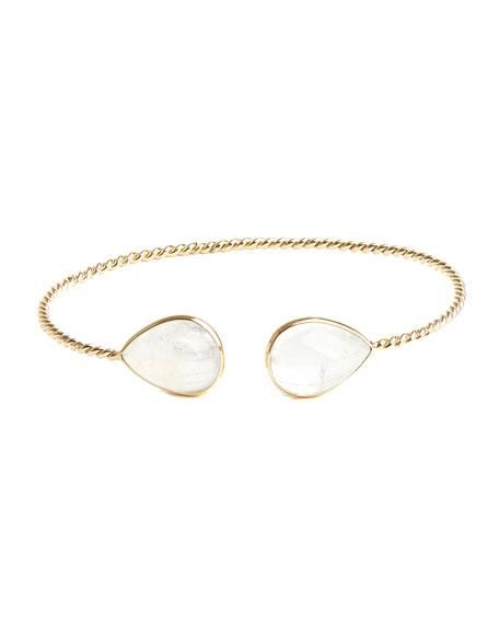 Kastel Jewelry Apollonia 14K Yellow Gold Moonstone Flex Bracelet