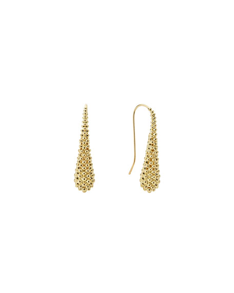 Lagos 18K Gold Caviar Teardrop Earrings
