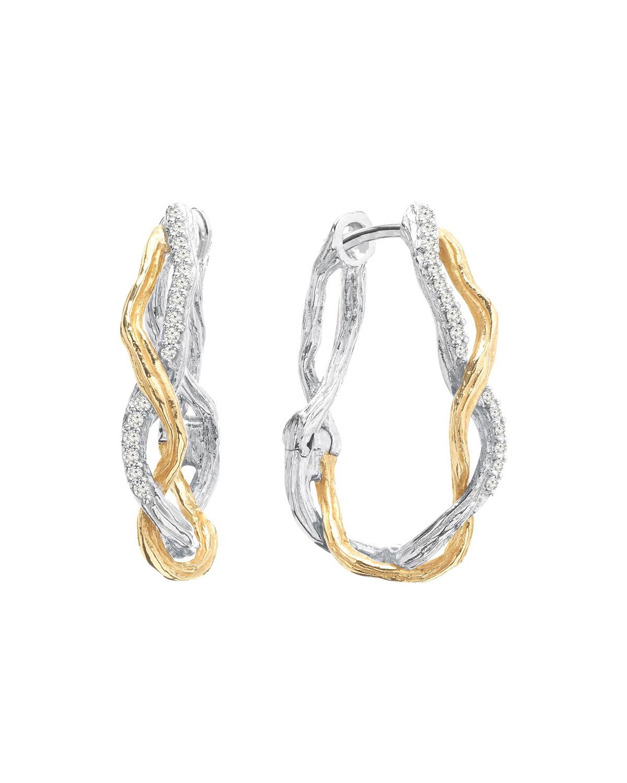 Wisteria Sterling Silver & 18K Hoop Earrings