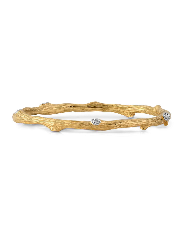 Enchanted Forest 18K Yellow Gold Diamond Bracelet