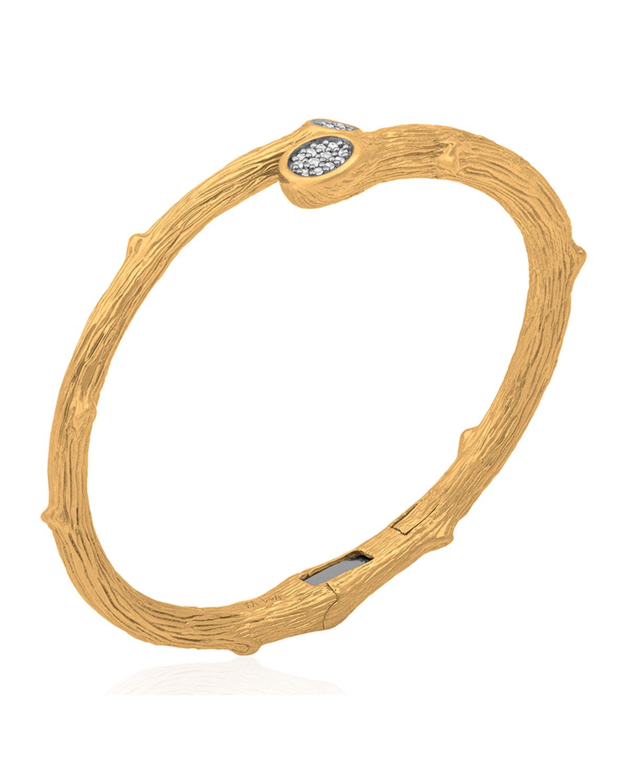 Enchanted Forest 18k Gold Bangle Bracelet