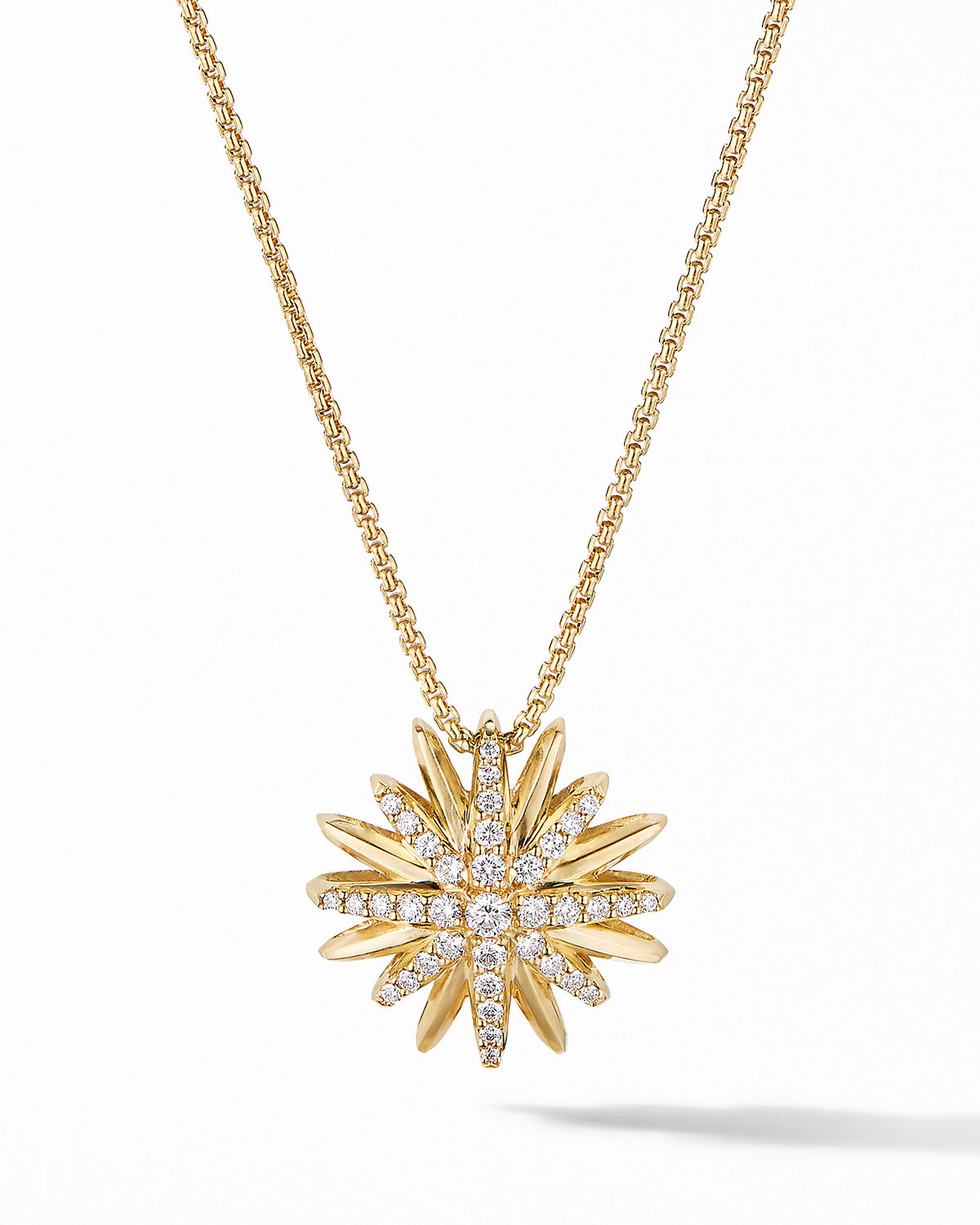 David Yurman Women's Starburst Pendant Necklace In 18k Yellow Gold With Diamonds