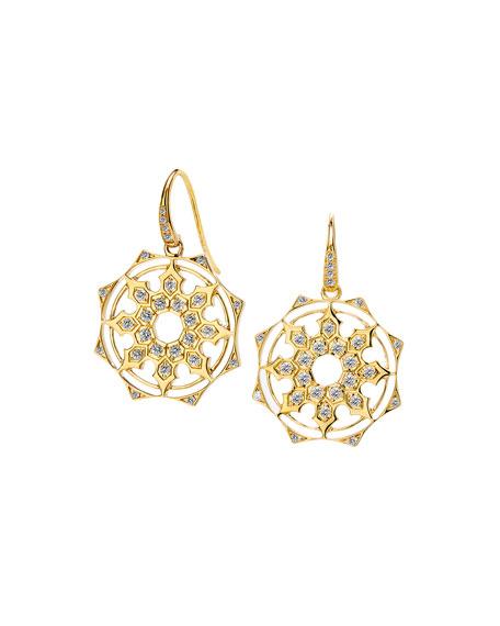 Syna 18k Champagne Diamond Mogul Drop Earrings