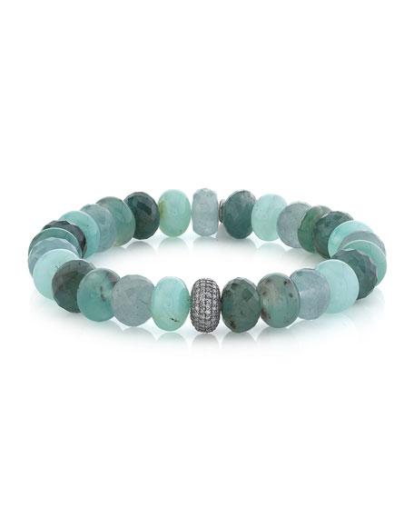 Sheryl Lowe Gemstone-Mix Diamond 1-Bead Bracelet