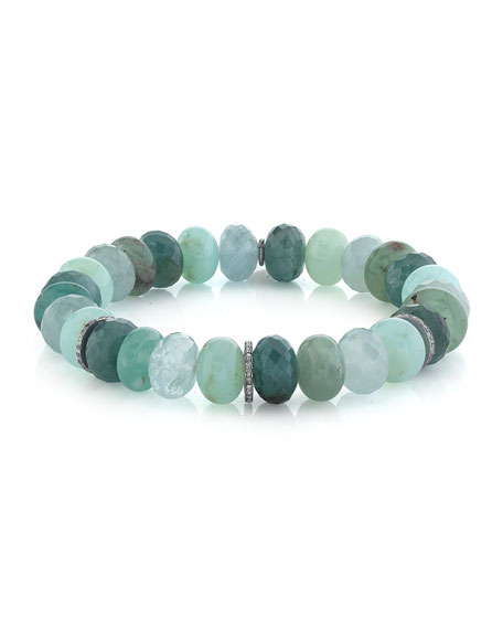 Sheryl Lowe Gemstone-Mix Diamond 1-Rondelle Bracelet