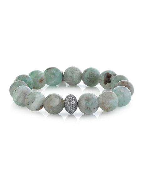 Sheryl Lowe 12mm Aquaprase Diamond 1-Bead Bracelet