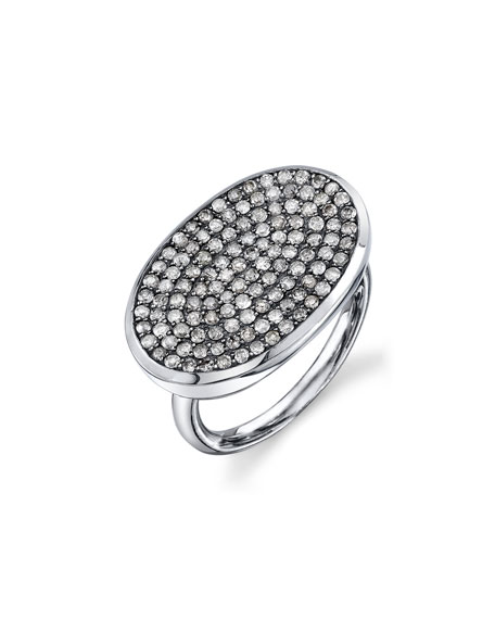 Sheryl Lowe Pave Diamond Oval Ring, Size 7