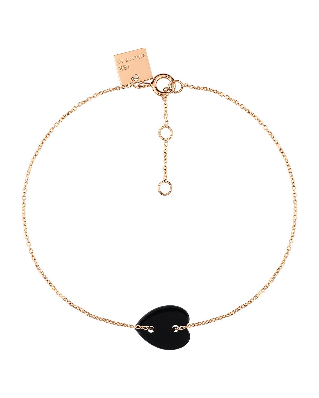 Angele Mini Onyx Heart Bracelet