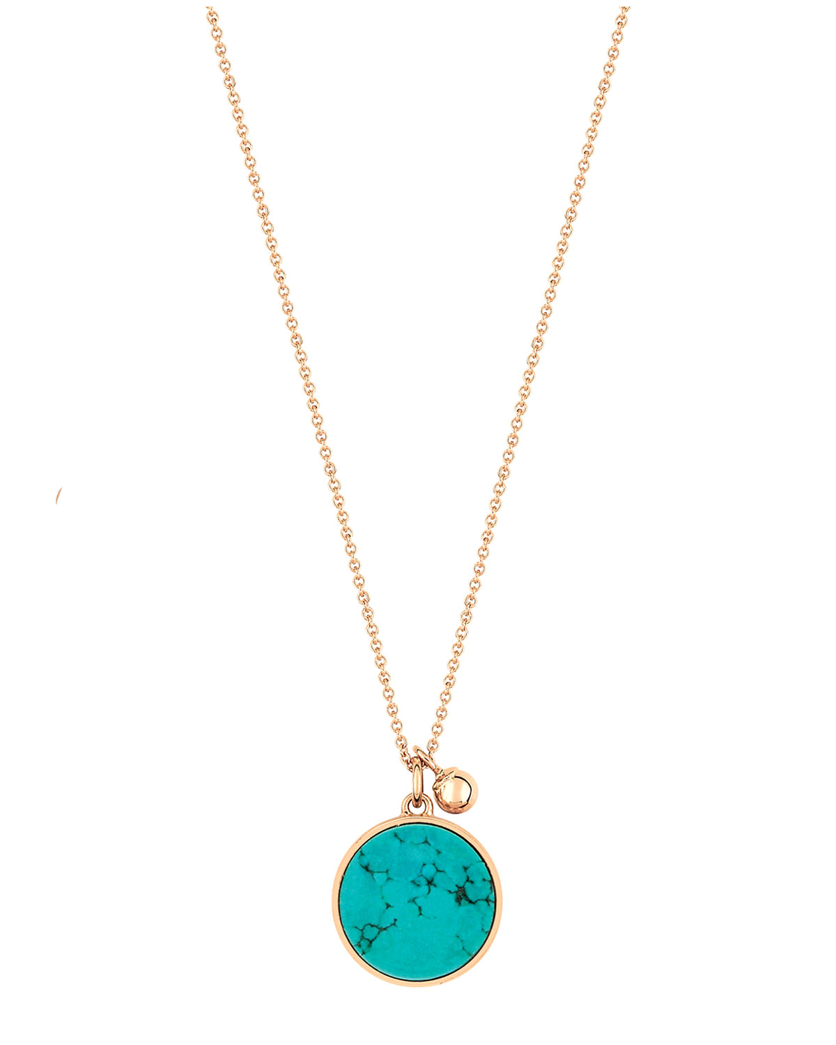 Ever Turquoise Disc on Chain Necklace