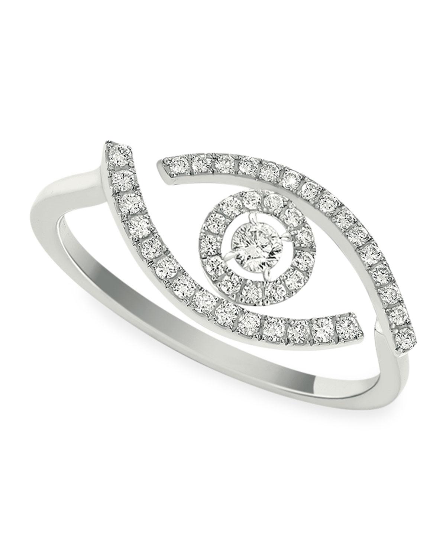 Lucky Eye 18k White Gold Diamond Ring