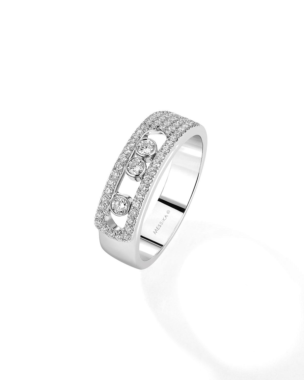 Move Noa 18k White Gold Pave and 3-Diamond Ring