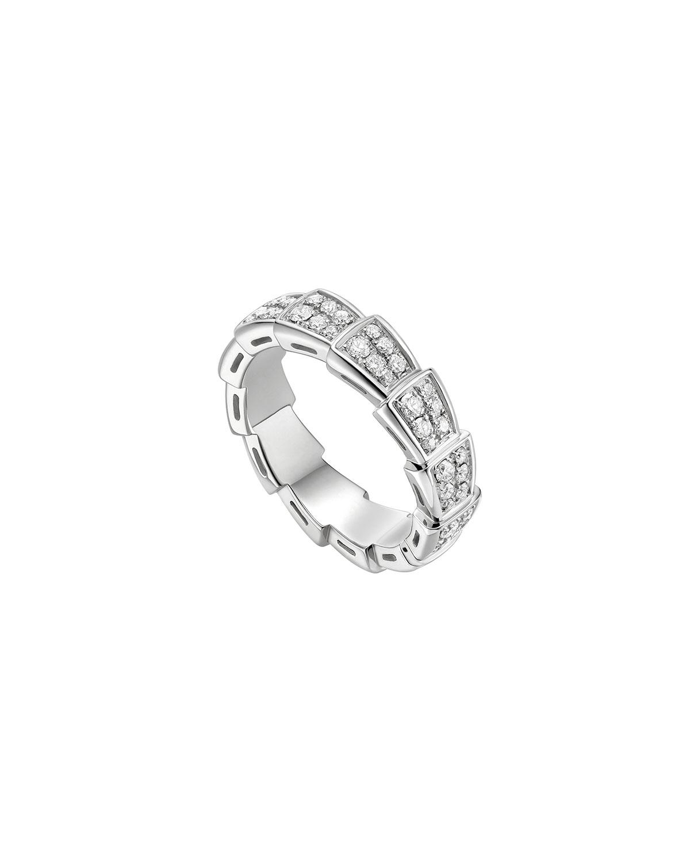 Serpenti Viper Ring in 18k White Gold and Diamonds