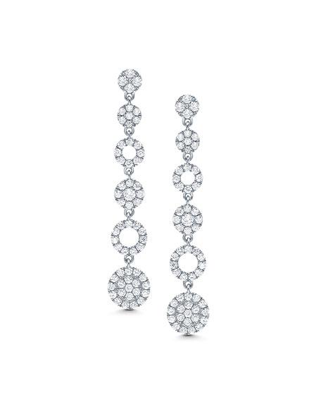 Graziela Gems 18k White Gold Diamond Cascade Earrings