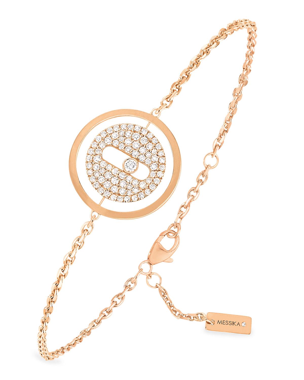 Pave Diamond Eye 18k Pink Gold Bracelet