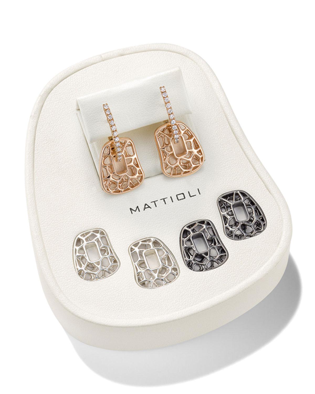 Puzzle Diamond and Openwork Earrings